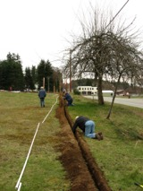 water-install-laying-pipe