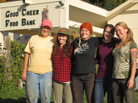 Cary and last year's four apprentices: Alexa, Camille, Lissa, and Casey