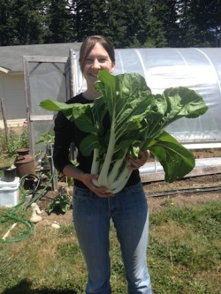 lissa and huge bok choi