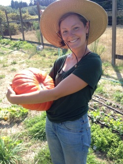 Sonya and her first winter squash