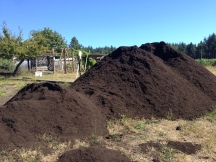 Compost for our crops, thanks to Cedar Grove, Langley Community Club, and Lucky Seven Foundation!